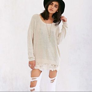 Urban Outfitters-Pins & Needles Lace Bottom Jumper